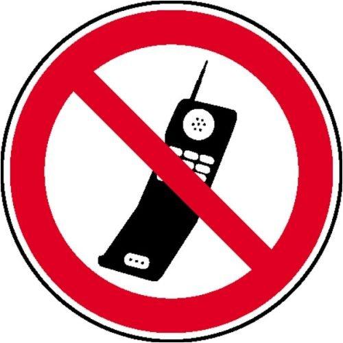 1232. Verbotsschild Handy benutzen verboten Aluminium geprägt Größe 20,00 cm
