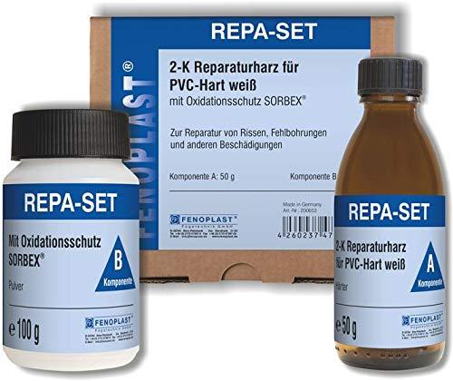 FENOPLAST Reparatur SET RAL 9016 für Kunststofffenster verkehrsweiss 2K Reparaturharz