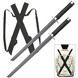 Snake Eye Tactical Dual Twin Ninja Sword with Dual Shoulder Sheath Each Blade
