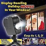 Projecteur de fenêtre de Noël Halloween, projecteur de décoration de projection à 12 films du Festival LED pour une...