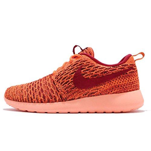 Nike Wmns Rosherun Flyknit Schuhe Damen Sneaker Turnschuhe Orange 704927 801, Größenauswahl:38