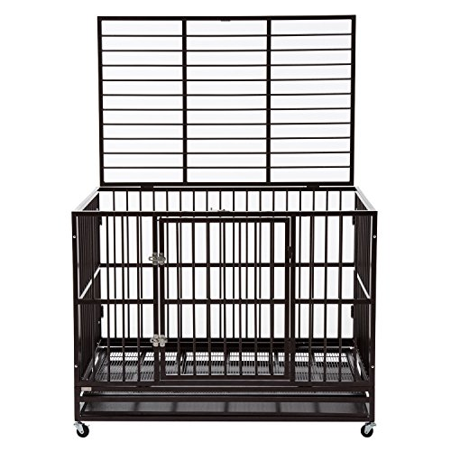 Silverylake Heavy Duty Dog Crate Kennel with Tray