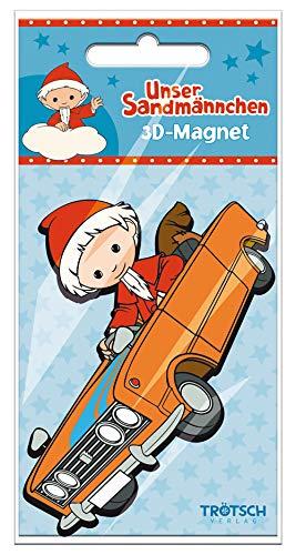 Trötsch Unser Sandmännchen Magnet Sandmann Auto: Magnet für Kühlschrank Whiteboards oder Büroschränke
