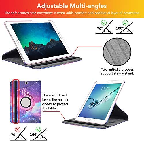 KATUMO Hülle für Samsung Galaxy Tab S2 9.7 360° Rotierend Hülle mit Standfunktion PU Leather Schutzhülle für SM T810/T815 Cover Protective