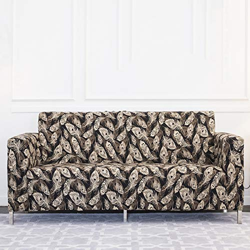 Xin Hai Yuan Fundas elásticas para sofá de sala de estar y sofá, toalla antideslizante, funda de sofá de 1/2/3/4 plazas, D, 3 plazas