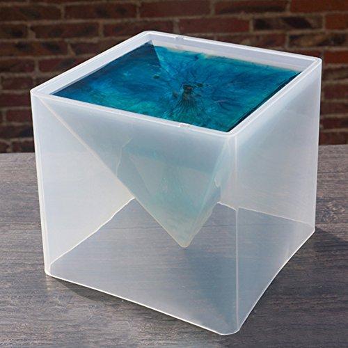 Somedays Molde de silicona de 15 cm, diseño de pirámide de flores...
