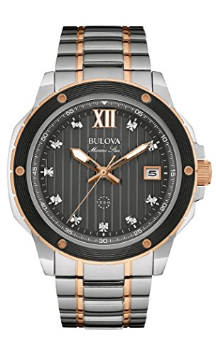 Bulova Men's Quartz Stainless Steel Dress Watch (Model: 98D127)
