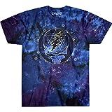 Liquid Blue unisex adult Grateful Dead Mystical Stealie Celestial Tie Dye Tee T Shirt, Tie Dye, X-Large US
