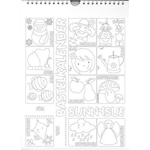 EDUPLAY 210-060 Bastelkalender Jahr, weiß/schwarz (1 Stück)
