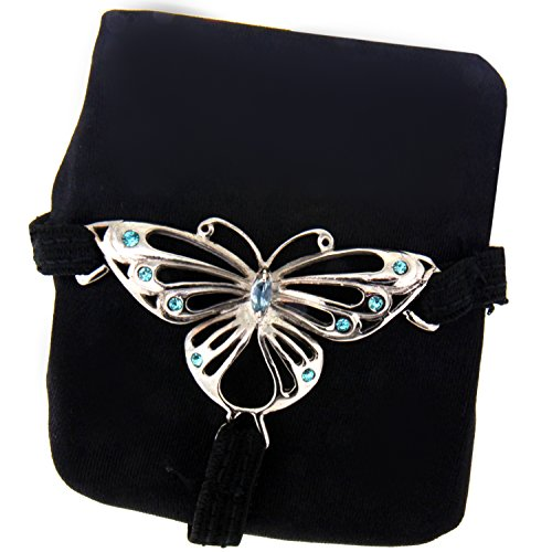 International Connection String Tanga mit abnehmbaren rhodinierten Schmetterlings Motiv
