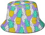 Unisex Animales exóticos del zoológico Sombrero de Cubo de Viaje Gorra de Pescador de Verano Sombrero para el Sol-piñas exóticas