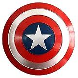 Capitán América Escudo Cosplay Props Superhéroe Retro Disfraz Accesorios para Halloween Juego de Roles Bar Decoraciones para Colgar en la Pared 18 Pulgadas