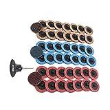 Lijas Para Lijadora 49 piezas de discos de cambio rápido Disco de lijado con un soporte de 1/4 pulgadas de grosor mediano Bellas óxido de aluminio patines de nylon