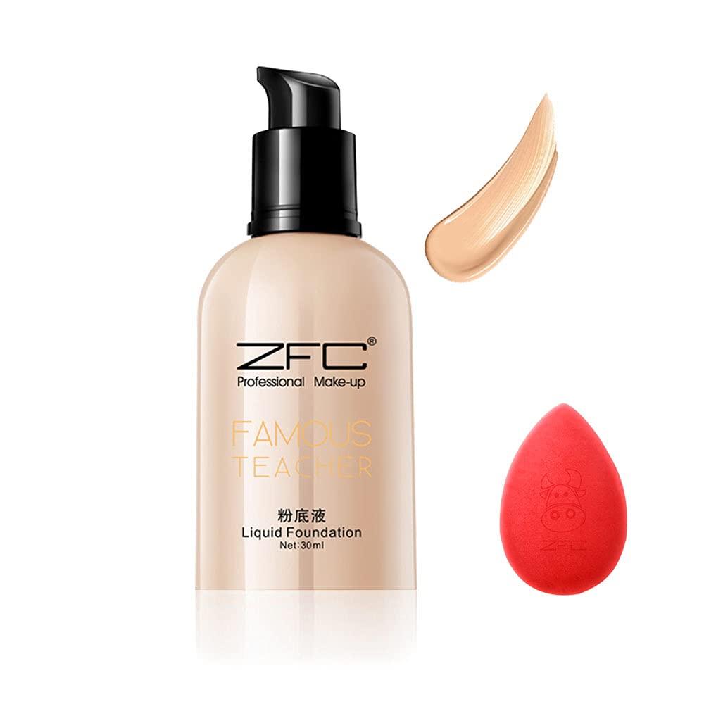 ZFC Liquid Foundation Long NEW Oil control Cream safety Lasting