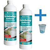 Reinigungsladen Hotrega Grünbelagentferner Konzentrat 2X 1 Liter + Messbecher - Grünbelagsentferner Algen Moos Grünbelag Entferner