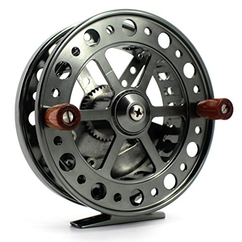 Saion 4.5 inches Float Reel Centrepin Reel Steelhead Coarse Trotting Fishing Centerpin 114mm CNC Machine Cut Aluminum