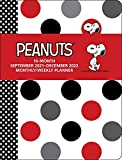 Peanuts 16-Month September 2021-December 2022 Monthly/Weekly Planner Calendar