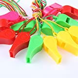 Days Off Colorful Noisemakers Whistle Bulk Toy with Lanyards for Party Sports
