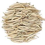 Oriarm 100g / 3.53oz Yunnan Silver Needle Tea - Baihao Yinzhen White Tea Loose Leaf - Silver Tips Imperial Tea - Caffeine Level Low - Naturally High Mountain Grown