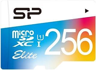 Silicon Power Elite 256GB microSDXC UHS Class 10Speicher Flash–Memoiren Flash (256GB, SDXC, Class 10, UHS, 85MB/s, Mehrfarbig)