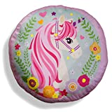 Unicorno Cuscino Sagomato, Rosa, 45x45x15