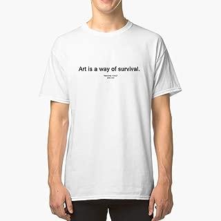 ART IS A WAY OF SURVIVAL (IMAGINE YOKO yoko ono) Classic TShirtT shirt Hoodie for Men, Women Unisex Full Size.