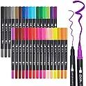 ZSCM 32 Colors Dual Tip Brush Pens Art Markers Set