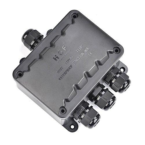 ATPWONZ Abzweigdose IP66 wasserdicht Kabelverbinder 4-Wege-Verbindungsdose Außen Verteilerdose Kabeldurchmesser Ø 5mm-10mm