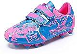 Zapatillas de Fútbol para Niña 33 FG Spike Botas de Fútbo Aire Libre Atletismo Zapatos de Entrenamiento Profesionales Césped Artificial Zapatos de...