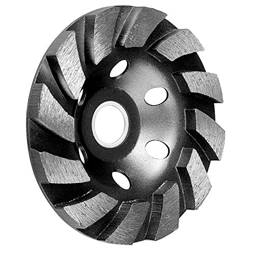 SUNJOYCO 4 Concrete Grinding Wheel, 12-Segment Heavy Duty Turbo Row Diamond Cup Grinding Wheel Angle Grinder Disc for Granite Stone Marble Masonry Concrete