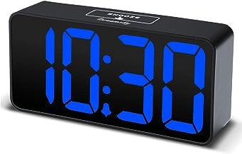 DreamSky Compact Digital Alarm Clock with USB Port for Charging, Adjustable Brightness..