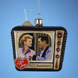 I Love Lucy Kurt Adler Glass TV Ornament