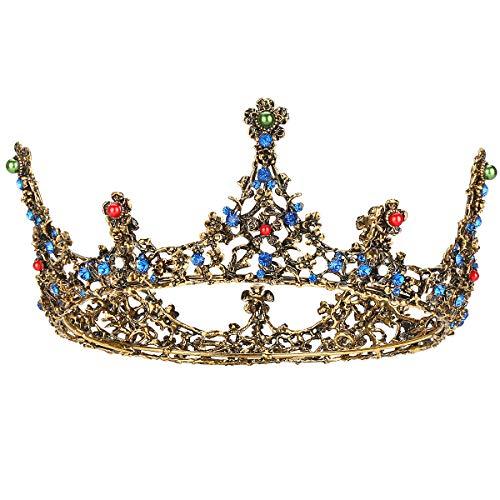 Makone Wedding Tiara Bridal Tiara Strass di Cristallo Tiara Crown con Pettine per Matrimonio Nuziale