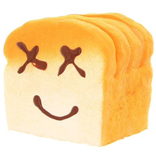 MIK Funshopping Anti Stress Figur Zum Kneten (Geschnitten Brot)