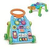YZT QUEEN Lauflernhilfe, Lauflernhilfe und Spieltisch, 2-in-1-Lernwagen-Kinderspielzeug