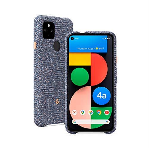 Google Pixel 4a with 5G, Just Black + Google Pixel 4a with 5G Case, Static Grey
