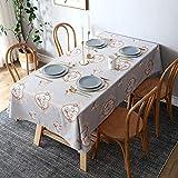 WSJIABIN Weiße rechteckige Tischdecke für Hochzeit, Esszimmer und Party Geburtstag (130 x 180 cm)