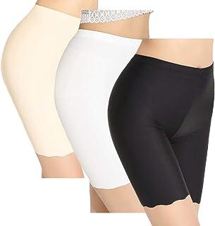 comprar comparacion TRISTIN Mujeres 3 Pack Pantalones Cortos para niños Ropa Interior Anti Rozaduras Tallas Grandes Calzoncillos Largos Bóxers...