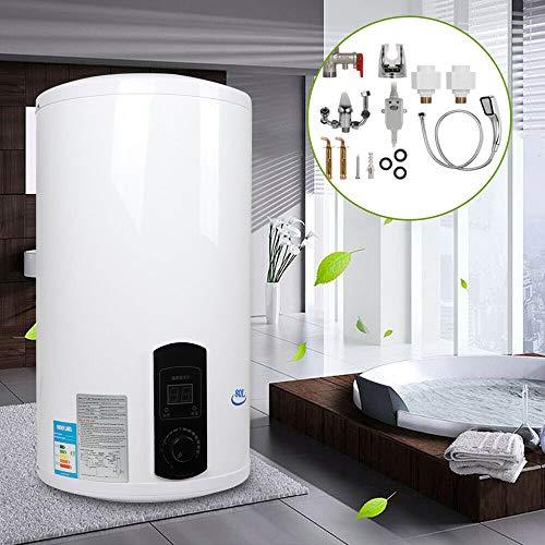 Elektro Warmwasserspeicher Boiler,Elektrospeicher 2000W 30-75 ℃, Elektroboiler,Water Heater,Vertikal Warmwasserboiler, Warmwasserbereiter (80L)