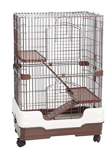 Homey Pet 3 Tiers Chinchilla Hamster Rat Ferret Cage with Sleeping Platform, Pull