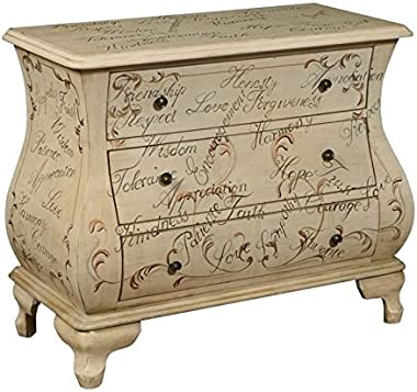 Pemberly Row 3 Drawer Accent Chest in Neutral Maci
