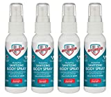 My-Shield Sanitizing Body Spray - Formulated with Zetrisil to Kill 99.999% of Germs. Alcohol Free - Long Lasting Protection. Infused with Aloe Vera (2 oz, 4-Pack)