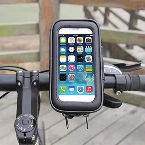 Hourongw Bolsa de marco frontal para teléfono de bicicleta, resistente al agua, paquete de montaje para teléfono con pantalla táctil, funda para teléfono móvil de gran capacidad