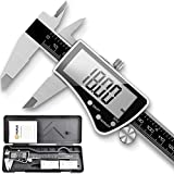 VIGRUE 0-6' Digital Vernier Caliper Stainless Steel Body and Large LCD Screen, Inch/Fractions/Millimeter Conversion...