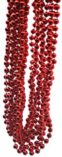 Rhode Island Novelty Metallic Red Beads : Package of 12