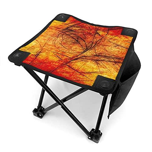 MIAOXXUAN Taburete plegable portátil con textura de fondo ligero y duradero para exteriores, con bolsa de transporte para pesca, barbacoas, viajes y bocetos