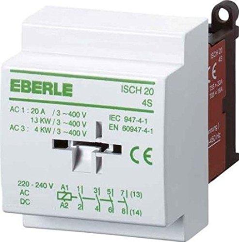 Eberle Controls 049095140000 Installationsschütz ISCH 20-4 S (brummfrei, mir Gleichrichter, Nachfolgetyp von ISCH30-4 S, 20 A, 4 S, AC 230 V)