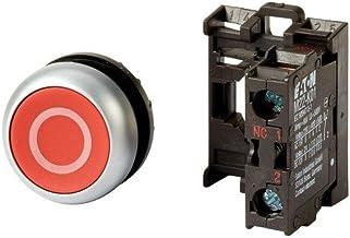 Eaton 216510 drukknop, 1 opener vlak, rood, bevestiging aan de voorkant