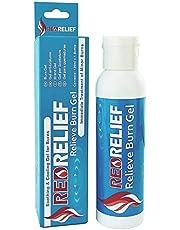 RedRelief Emergency Burn Gel 120ml Botella - Gel calmante y refrescante para quemaduras, escaldaduras y quemaduras solares