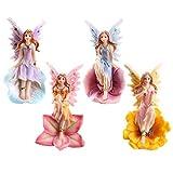 set di 4 statuette decorative a forma di fatine dei fiori